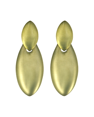 Alexis Bittar Future Antiquity Lucite Layered Oval Drop Earrings