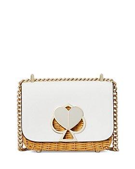 kate spade new york - Nicola Wicker Twist-Lock Small Convertible Chain Shoulder Bag