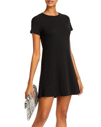 AQUA - Ribbed Knit Dress - 100% Exclusive