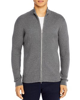 Theory - Breach Cotton Zip Cardigan