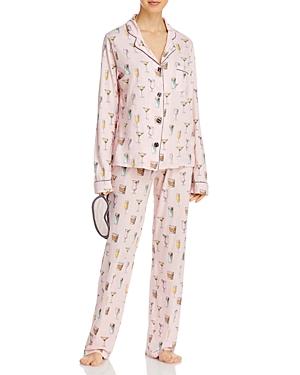 Pj Salvage Printed Pajama Set & Sleep Mask