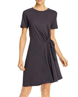 Current/Elliott - Poppy Cotton Ruched Tee Dress