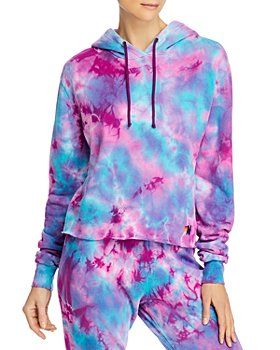 Aviator Nation - Cropped Tie-Dyed Hoodie