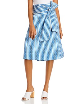 Tory Burch - Gemini Link Cotton Wrap Skirt