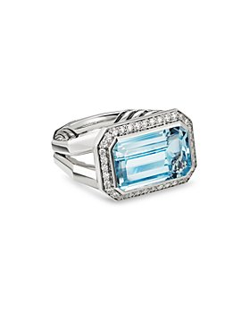 David Yurman - Sterling Silver Novella Statement Ring with Gemstones and Pavé Diamonds