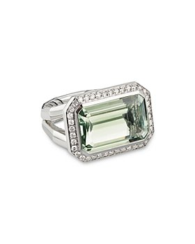 David Yurman - Sterling Silver Novella Statement Ring with Gemstone and Pavé Diamonds