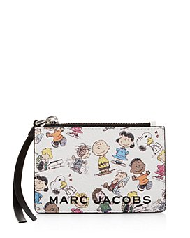 MARC JACOBS - The Box Peanuts Leather Top Zip Wallet