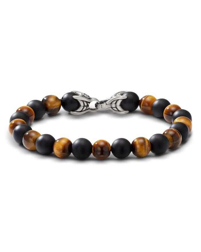 David Yurman Spiritual Beads Bracelet with Tiger's Eye and Black Onyx  | Bloomingdale's