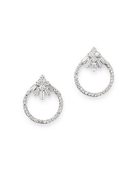 Bloomingdale's - Diamond Open Circle Stud Earrings in 14K White Gold, 0.3 ct. t.w. - 100% Exclusive