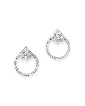 Bloomingdale's - Diamond Open Circle Stud Earrings in 14K White Gold, 0.30 ct. t.w. - 100% Exclusive