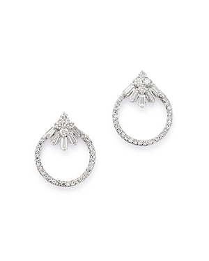 Bloomingdale's Diamond Open Circle Stud Earrings in 14K White Gold, 0.30 ct. t.w. - 100% Exclusive