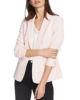 1.STATE - Textured-Crepe One-Button Blazer