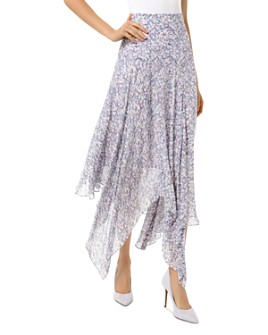 MICHAEL Michael Kors - Floral Handkerchief-Hem Skirt