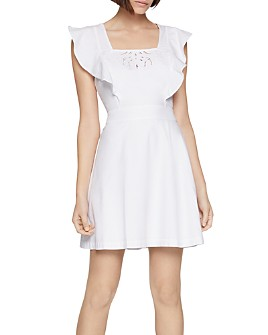 BCBGENERATION - Embroidered Apron Mini Dress