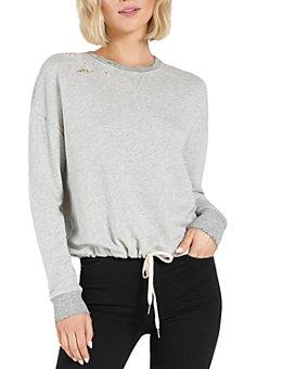 n:philanthropy - Olympia Distressed Drawstring Sweatshirt