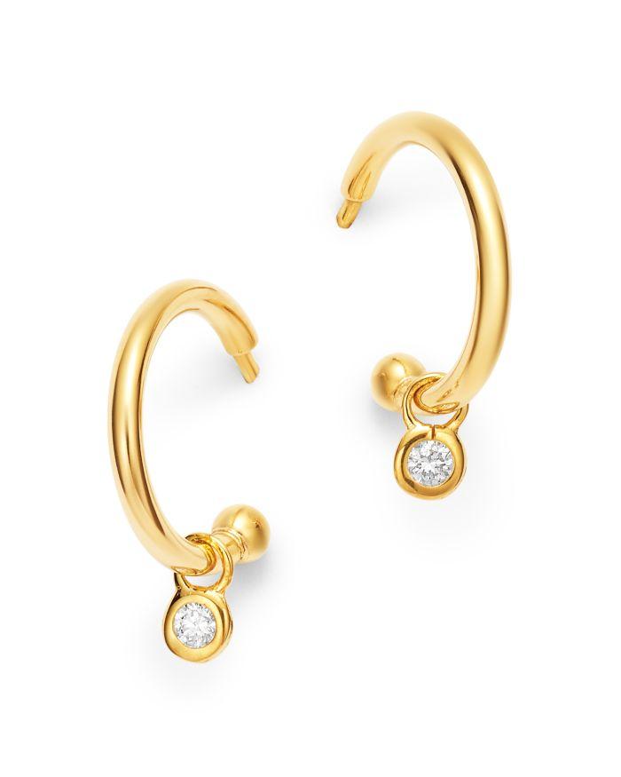 Bloomingdale's Diamond Drop Huggie Hoop Earrings in 14K Yellow Gold - 100% Exclusive  | Bloomingdale's