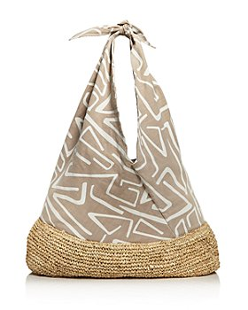 KAYU - Lula Large Cotton & Straw Tote