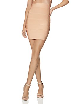 Hervé Léger - High-Waist Bandage-Style Mini Skirt