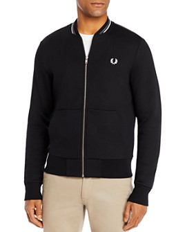 Fred Perry - Cotton-Blend Full-Zip Bomber Sweatshirt