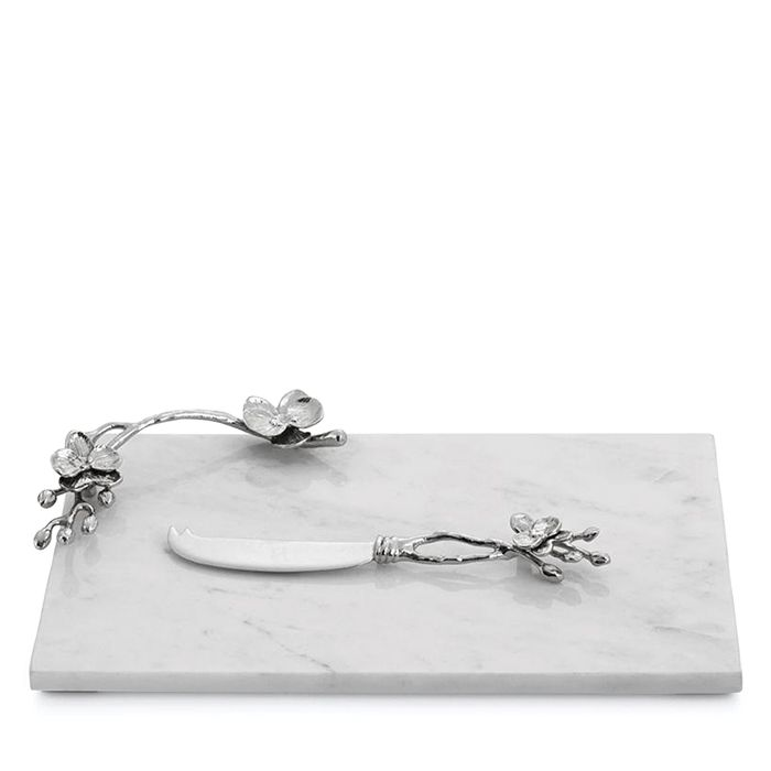 Michael Aram - White Orchid Small Cheeseboard with Knife