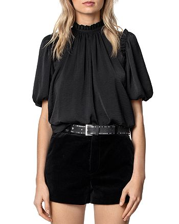 Zadig & Voltaire - Tattoo Low-Back Satin Top