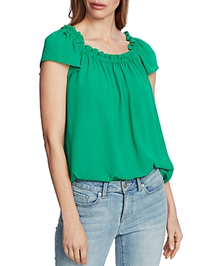 Ruffled Square Neck Top