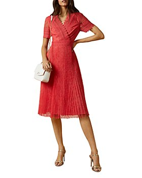 Ted Baker - Sonyyia Faux-Wrap Lace Midi Dress