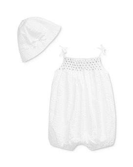 Ralph Lauren - Ralph Lauren Girls' Bubble Shortall & Hat Set - Baby