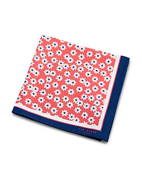 Ted Baker - Silk Daisy Print Pocket Square