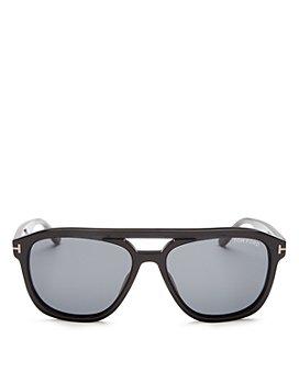 Tom Ford - Men's Gerrard Brow Bar Square Sunglasses, 56mm