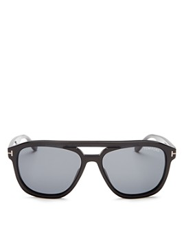 Tom Ford - Men's Gerrard Brow Bar Square Sunglasses, 56mm