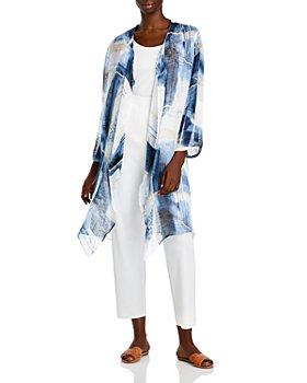 NIC and ZOE Plus - Printed Linen Cardigan