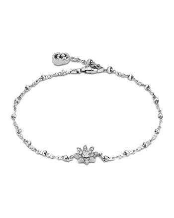Gucci - 18K White Gold Flora Diamond Link Bracelet