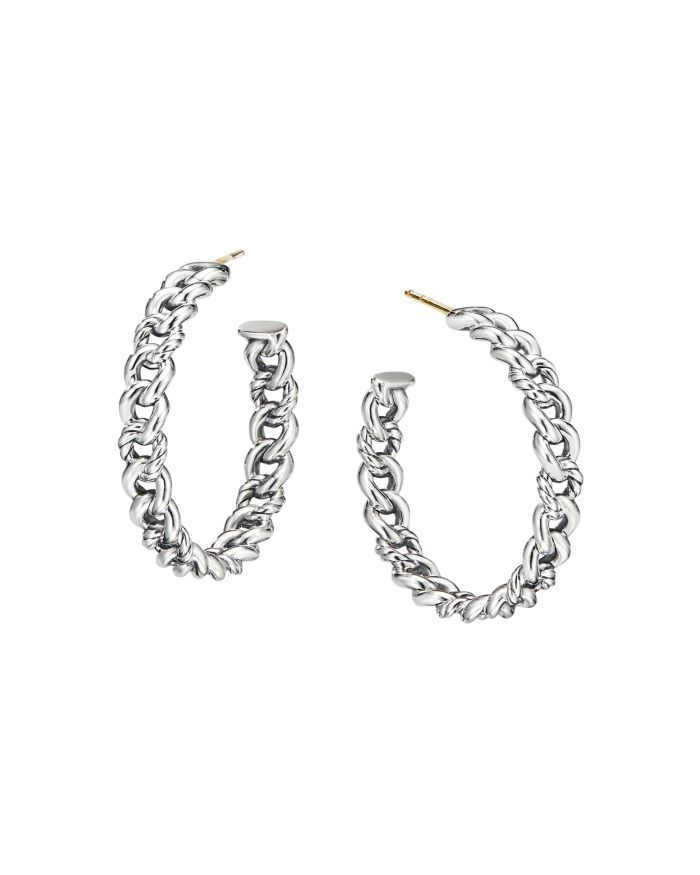 David Yurman Belmont Curb Link Medium Hoop Earrings  | Bloomingdale's