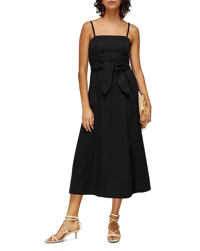 Whistles - Linen Tie-Front Strappy Dress