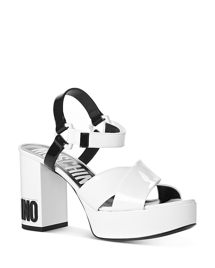 Moschino - Women's Strappy Platform High-Heel Sandals