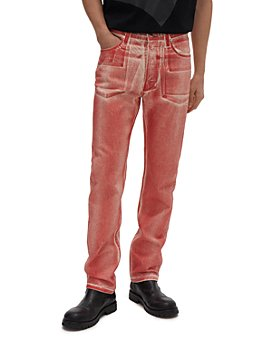 Helmut Lang - Masc Hi Straight Fit Jeans in Red Volcano Lacquer
