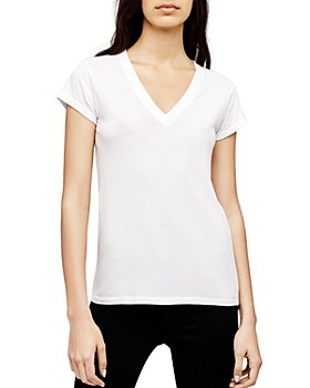 L'AGENCE - Becca Cotton V-Neck Tee