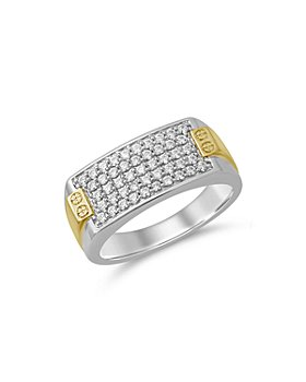 Bloomingdale's - Men's Diamond Two Tone Square Cluster Ring in 14K Yellow Gold & White Gold, 0.75 ct. t.w. - 100% Exclusive