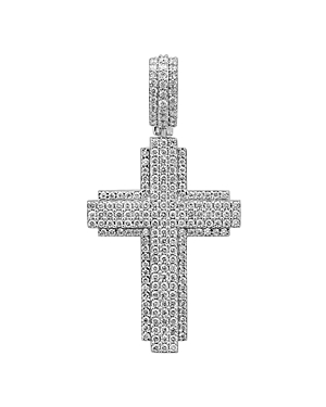 Bloomingdale's Men's Diamond Cross Pendant in 14K White Gold, 2.4 ct. t.w. - 100% Exclusive