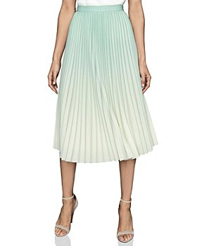 REISS - Mila Ombré Pleated Skirt