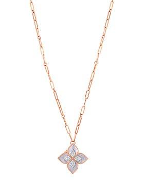 Roberto Coin - 18K Rose Gold Venetian Princess Mother-of-Pearl & Diamond Clover Locket