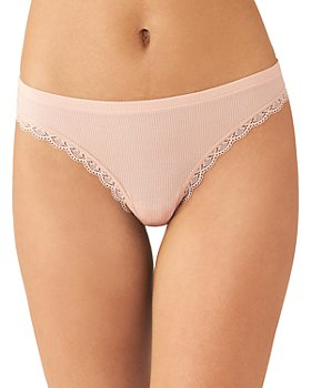 b.tempt'd by Wacoal - Innocence Lace Trim Ribbed Thong