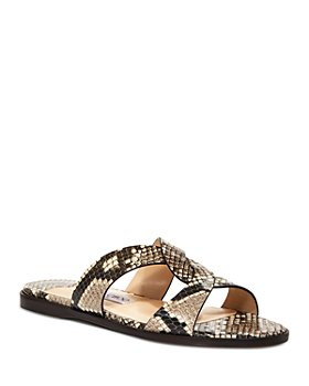 Jimmy Choo - Women's Atia 5 Snake Embossed Slide Sandals