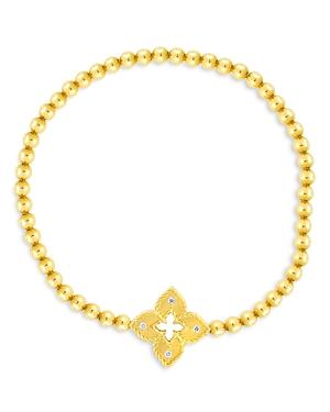 Roberto Coin 18K Yellow Gold Venetian Princess Diamond Small Flower Bracelet-Jewelry & Accessories