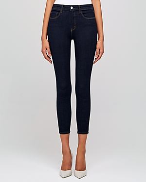 L\\\'Agence Margot High-Rise Skinny Jeans in Midnight-Women