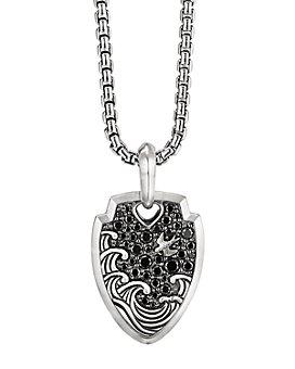 David Yurman - Waves Shield Pendant with Pavé Black Diamonds