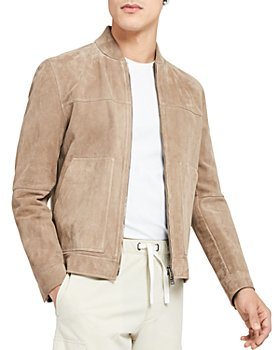 Theory - Fletcher Suede Bomber Jacket