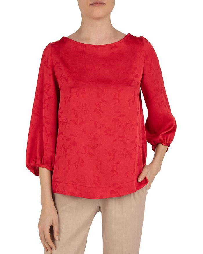 Gerard Darel Ninon Floral Print Top In Red