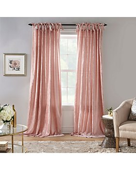 Elrene Home Fashions - Korena Tie-Top Crushed Velvet Window Curtains